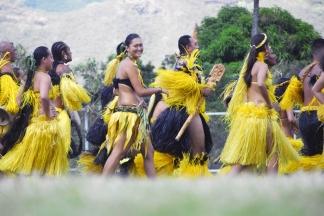 Ceremonie d'ouverture a Taiohae,troupe de danseurs de Nuku Hiva. Le Festival des Arts Marquisiens a eu lieu a Nuku Hiva du 15 au 19 decembre 2011. Plus de 3000 personnes etaient presentes sur l'ile pour assister a des demonstrations de danse, de chant et d'artisanat. Le Festival a lieu tous les quatre ans et reunit toutes les populations du pacifique. The Marquiseans Arts Festival occured on Nuku Hiva from december 15th to 19th 2011. More than 3000 people were there to watch demonstrations of dance, singing and artworks. This Festival happens every 4 years and gathers all the populations from the Pacific area. Nuku Hiva, FRENCH POLYNESIA - 15/12/2011